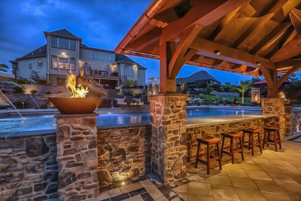 outdoor living harrisburg pool cabana